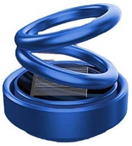 Auto Smart Look ASL1807 Car Solar Ring Air Freshener Double Loop Rotary Air Conditioner Dashboard Air Freshener Perfume Blue For Honda BR-V Air Purifier