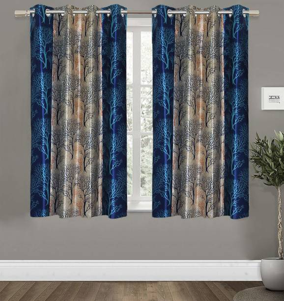 Guruh Homes 152.4 cm (5 ft) Polyester Window Curtain (Pack Of 2)