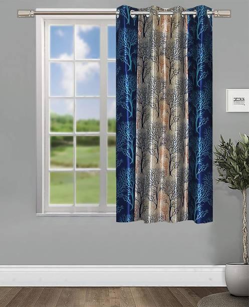 Guruh Homes 152.4 cm (5 ft) Polyester Window Curtain Single Curtain