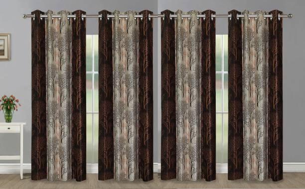 Guruh Homes 274.32 cm (9 ft) Polyester Long Door Curtain (Pack Of 4)