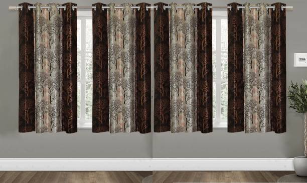 Guruh Homes 152.4 cm (5 ft) Polyester Window Curtain (Pack Of 4)