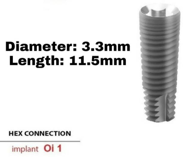 Navkar Surgical Company Dental Spiral Implant with Abutment 3.3mm×11.5mm Dental Implant
