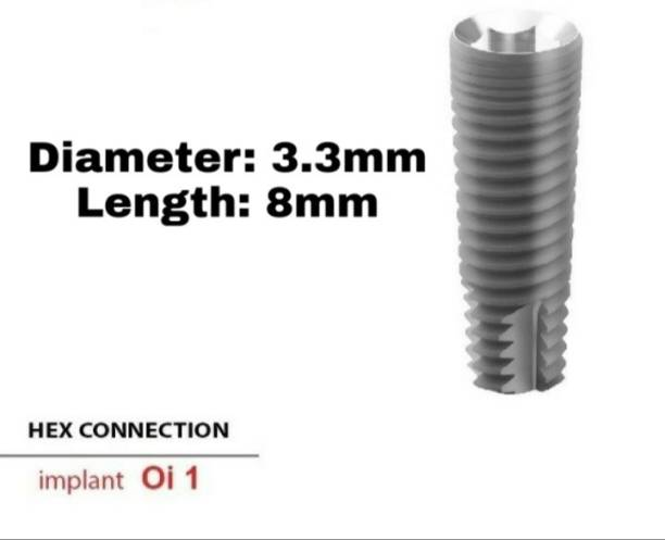 Navkar Surgical Company Dental Spiral Implant with Abutment 3.3mm×8mm Dental Implant