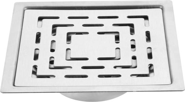 RUHE Floor Stainless Steel Push Down Strainer