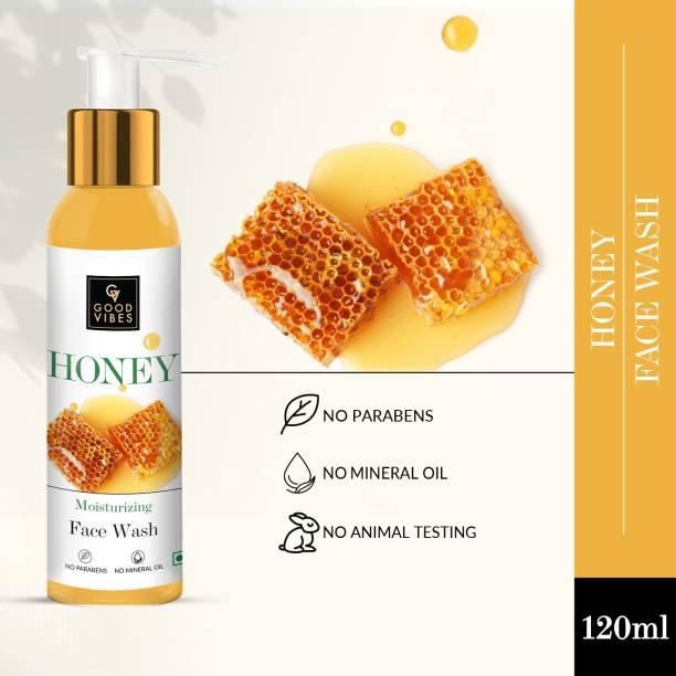 GOOD VIBES Honey Moisturizing  (120 ml) Face Wash