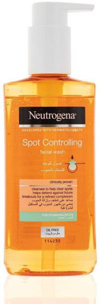 NEUTROGENA Spot Controlling Facial Wash For Stubborn Spots 200ml made in France Face Wash