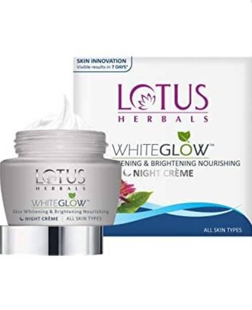 LOTUS HERBALS WhiteGlow Skin Whitening& Brightening Nourishing Night Creme