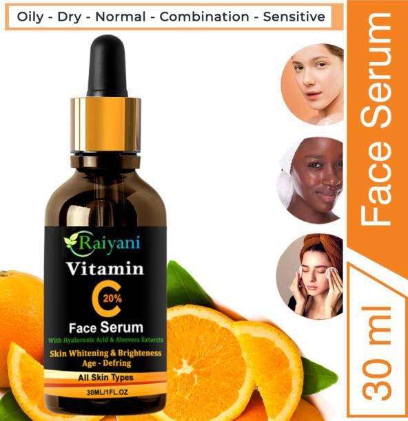 Raiyani Vitamin C Serum, Aloe Vera extract for face Anti Ageing, Brightening and Whitening Serum (30 ml)