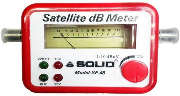 FineArts Satelitr DB Meter Satellite Signal Finder DB Meter For Full-HD Dish T.V Network Setting Solid SF-45 Satellite dB Meter SOLID SF-45 All Dish Compatible Dish Antenna Gain Measuring Instrument Satellite Finder Non-magnetic Electronic Level