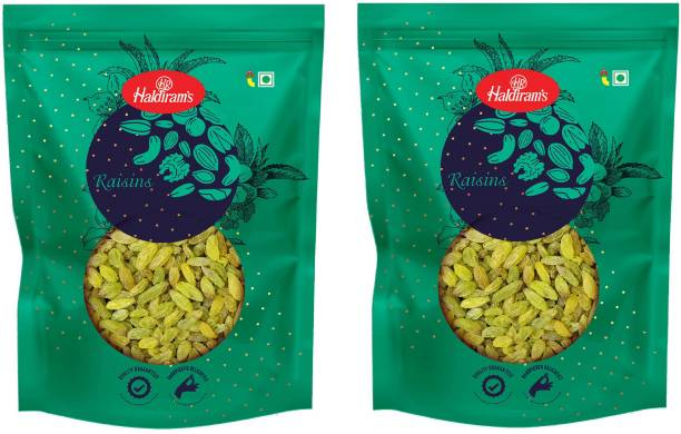 Haldiram's Raisins Long Green Pack of 2 Raisins