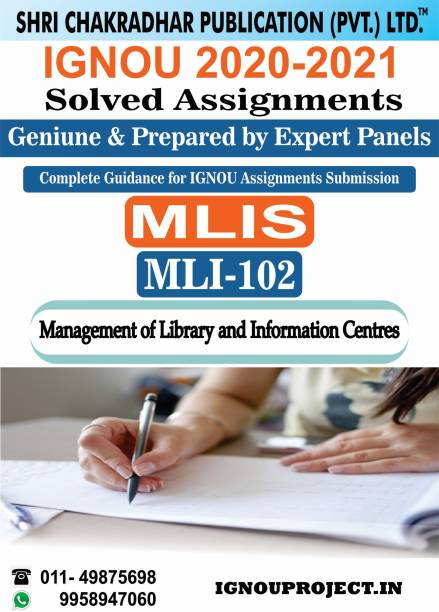 MLI 102 Management Of Library And Information Centres MLIS Master Of Library And Information Sciences IGNOU SOLVED ASSIGNMENT