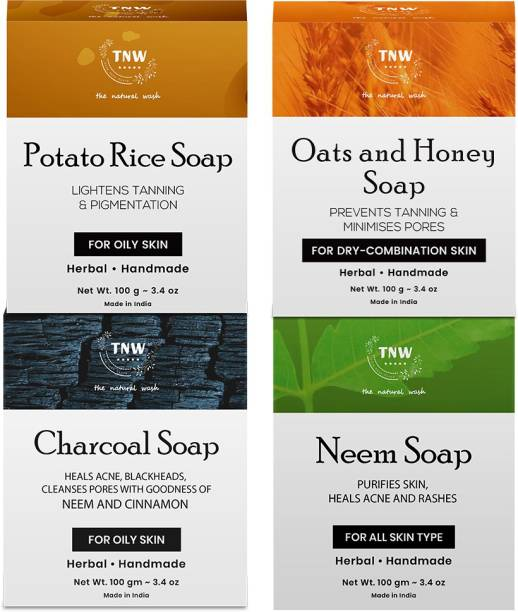 TNW - The Natural Wash Handmade Soaps Combo (Paraben/Sulphate/Silicon-Free)