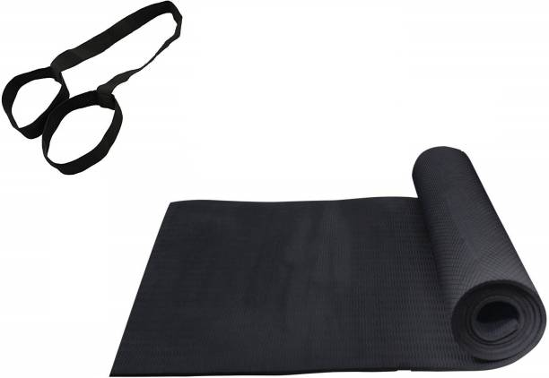 Fitalogy Black EVA Yoga Mat Black 6mm mm Exercise & Gym Mat