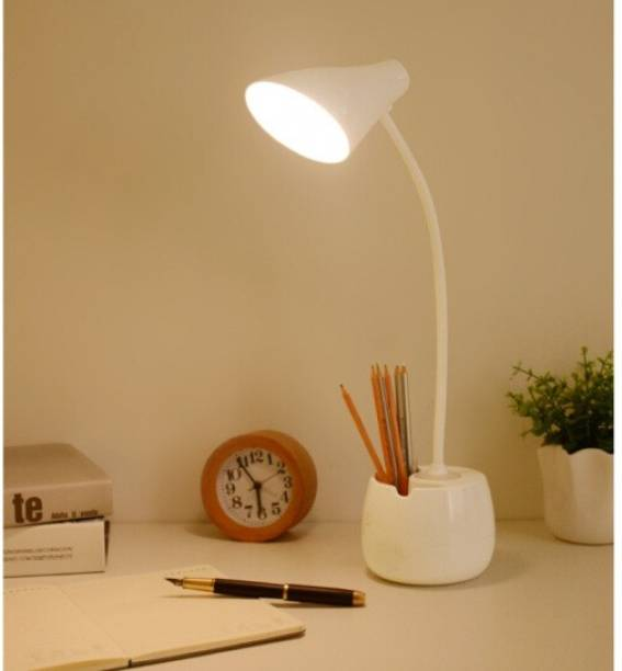 FIRSTLIKE 360 Degree Flexible Desk Lamp with Night Lamp, Advanced Pen and Mobile Holder Design Modern Touch Switch Rechargeable Table Lamp Study Lamp