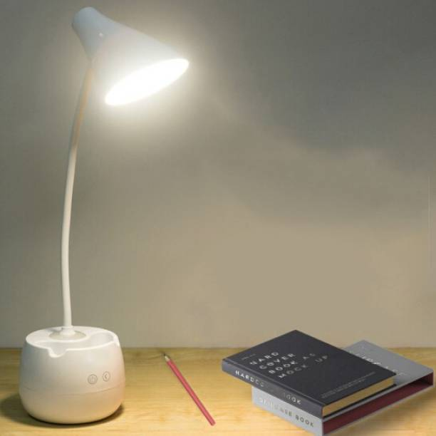 FIRSTLIKE 5 in One Rechargeable study led lamp for students eye protection With mobile holder With Night light Study Lamp
