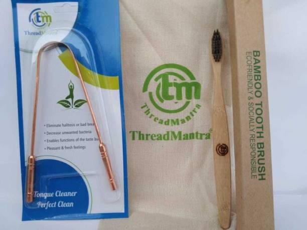 Threadmantra TM ORAL KIT Extra Soft Toothbrush