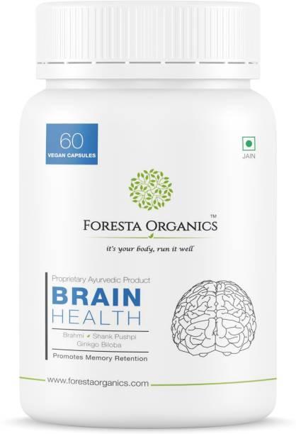 Foresta Organics BRAIN HEALTH Natural Brahmi, Shankpushpi,