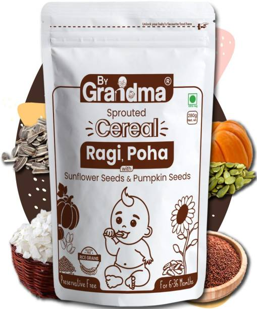 By Grandma Sprouted Ragi Porridge Mix (Stage 1) Cereal