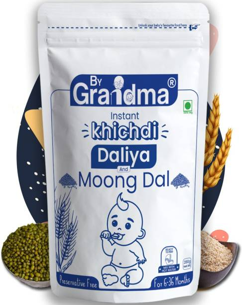 ByGrandma Baby Porridge Mix - Broken Wheat and Moong Dal For 12+ Months Cereal