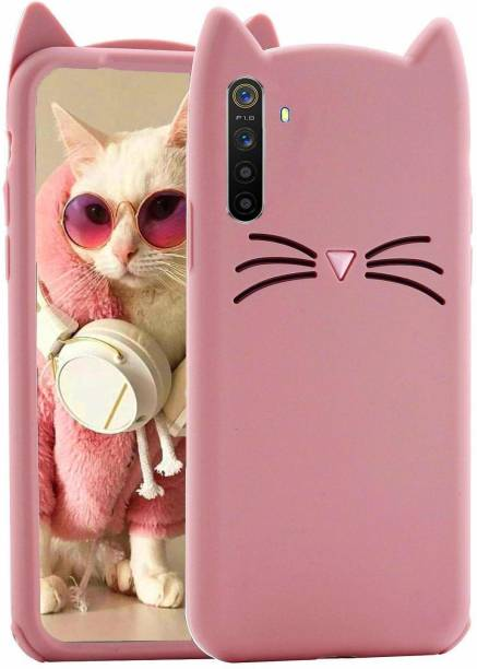 UNQMobi Back Cover for Oppo F15 Mustache Ears Meow Soft Silicone Cute Cartoon Cat Ear Kitty Back Cover