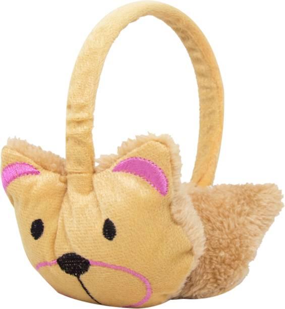 Neska Moda Beige Winter Outdoor Wear Adjustable Size Fur Ear Muffs/Warmers For Girls & Womens Ear Muff
