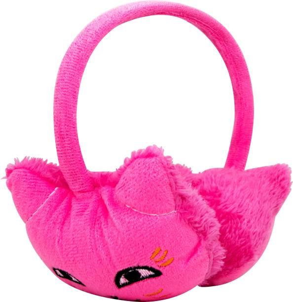 Neska Moda Pink Winter Outdoor Wear Adjustable Size Fur Ear Muffs/Warmers For Girls & Womens Ear Muff
