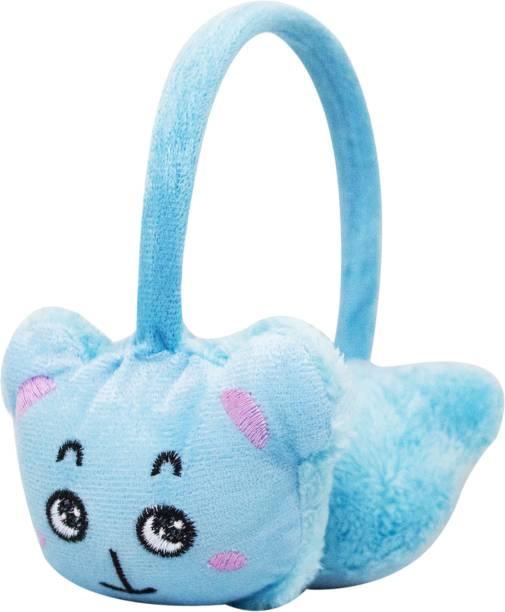 Neska Moda Blue Winter Outdoor Wear Adjustable Size Fur Ear Muffs/Warmers For Girls & Womens Ear Muff