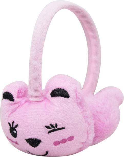 Neska Moda Baby Pink Winter Outdoor Wear Adjustable Size Fur Ear Muffs/Warmers For Girls & Womens Ear Muff