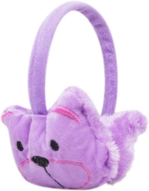 Neska Moda Purple Winter Outdoor Wear Adjustable Size Fur Ear Muffs/Warmers For Girls & Womens Ear Muff