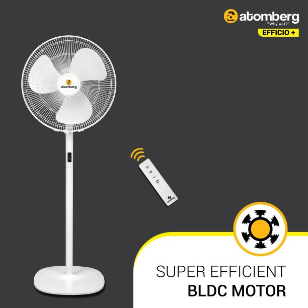 Atomberg Efficio+ 400 mm BLDC Motor with Remote 3 Blade Pedestal Fan