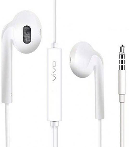 vivo High Bass Earphones Noise Isolating White 1103 Wired Headset