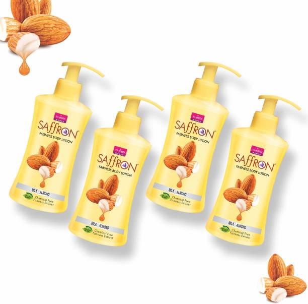 VI-JOHN Body Lotion Combo of 4 | 250 ml Each | For Men and Women | All Skin Types | Milk & Almond