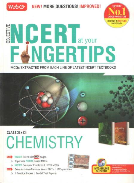 Objective Ncert At Your Fingertips Class Xi+ Xii Chemistry