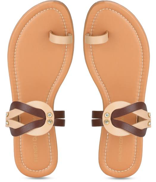 French Connection Women Beige, Brown Flats