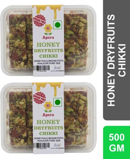 APERA Honey Dry Fruits Chikki (Sugar Free) (Honey, Kaju, Badam, Pista, Khajur, Pure Gee) Box