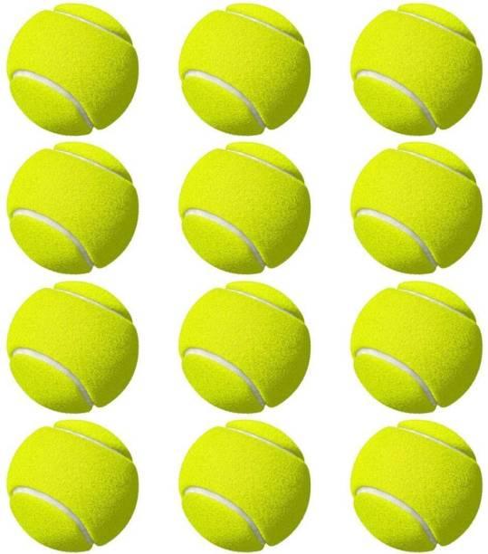 Sparsh International Light Weight Green Colour Tennis Ball (Pack of 12) Tennis Ball