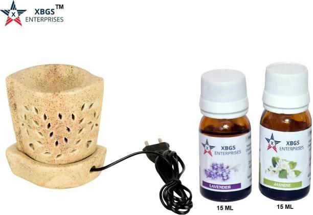XBGS ENTERPRISES Jasmine, Lavender Aroma Oil, Diffuser, Diffuser Set