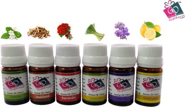 GIFDECO JASMINE, SANDALWOOD, ROSE GARDEN, LEMONGRASS, LAVENDER, PEELED LEMON Aroma Oil, Refill