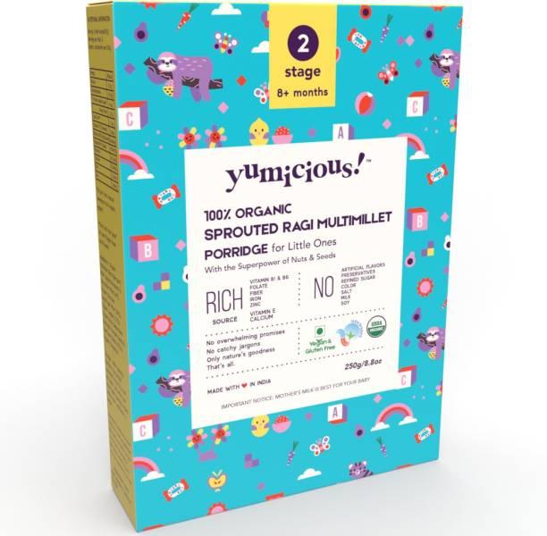 Yumicious Organic Sprouted Ragi Multimillet Porridge, Sathu Maavu | Healthy Baby Food Cereal