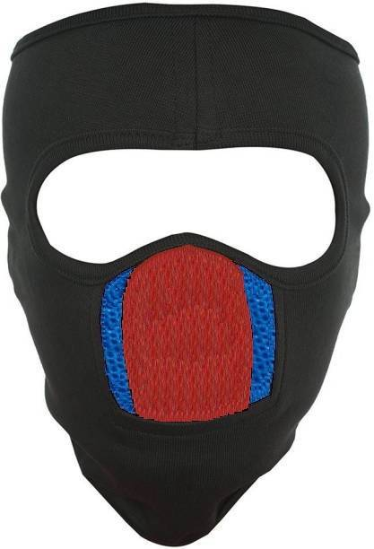LA OTTER Black, Blue Bike Face Mask for Men & Women