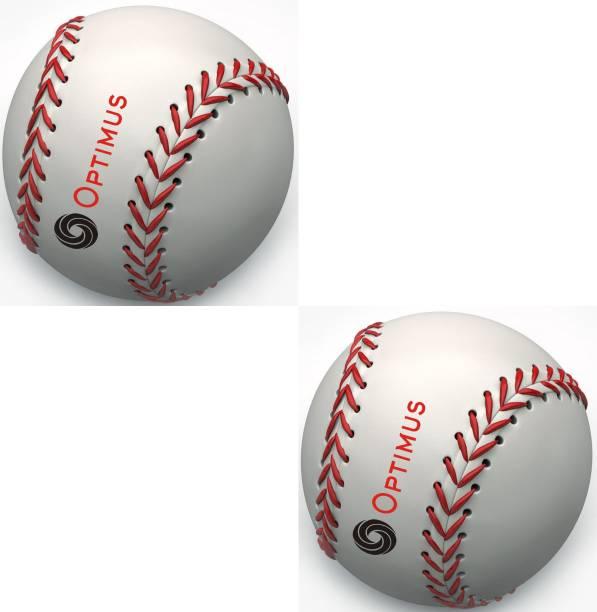 Optimus Pack of 2 Baseball Ball PU Leather Grade 5000 Official Baseball
