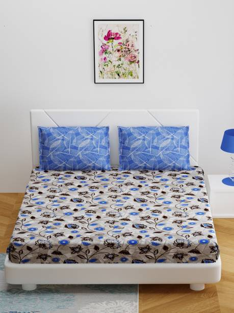 Bombay Dyeing 144 TC Cotton Double Floral Bedsheet
