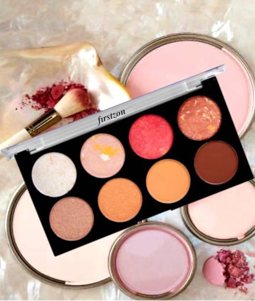 FIRSTZON Blusher & contour & bronzer highlighter face makeup combo palette