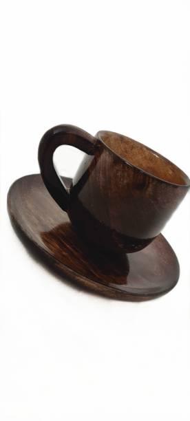 Handicrafts Goods Pack of 1 Wooden Wooden Cup Plate