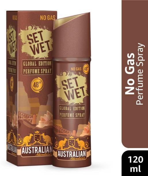 SET WET Global Edition Australian Adventures Body Spray for Men,48 Hour Long Lasting Fragrance Perfume Body Spray  -  For Men