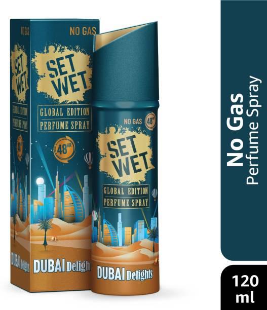 SET WET Global Edition Dubai Delights Body Spray for Men, 48 Hour Long Lasting Fragrance, 120 ml Perfume Body Spray  -  For Men