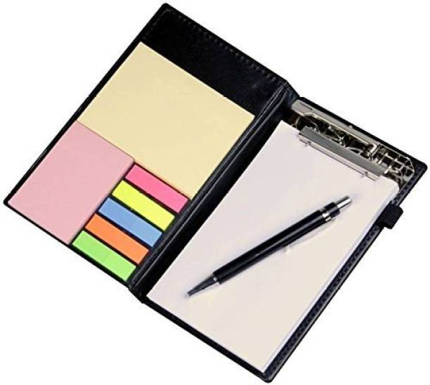 COI NEW WHITE Note Pad/Memo Book with Sticky Notes & Clip Holder with Pen for Gifting Pocket-size Memo Pad UNRULED 50 Pages