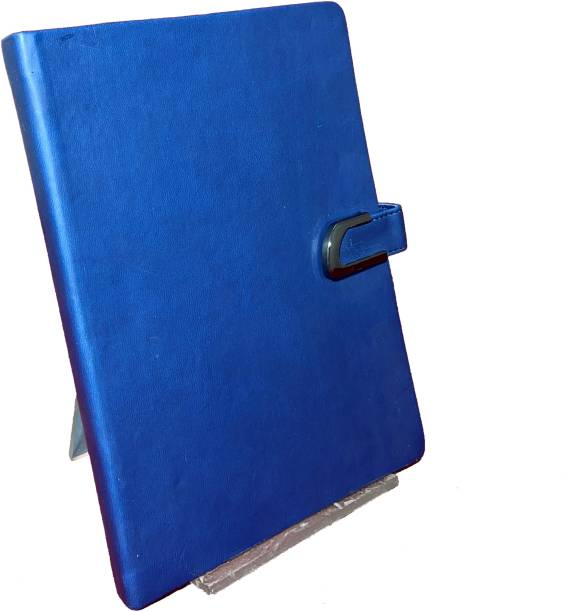 RATN Premium Series Blue Hardcover A5 Notebook with Strong Metal Lock and Ribbon Bookmark Regular Notebook Yes 128 Pages