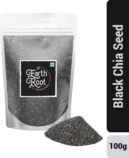 EARTHROOT Natural Black Chia Seed for weight loss (100g)