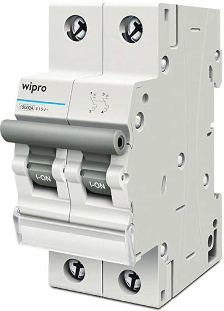 Wipro Double Pole 32A MCB with Trip Free Mechanism DP MCB